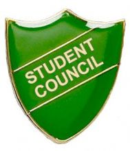 Student Council Shield Badge Green